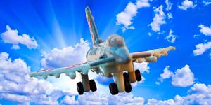 Новые игрушки для мальчиков.  Самолёт-истребитель.